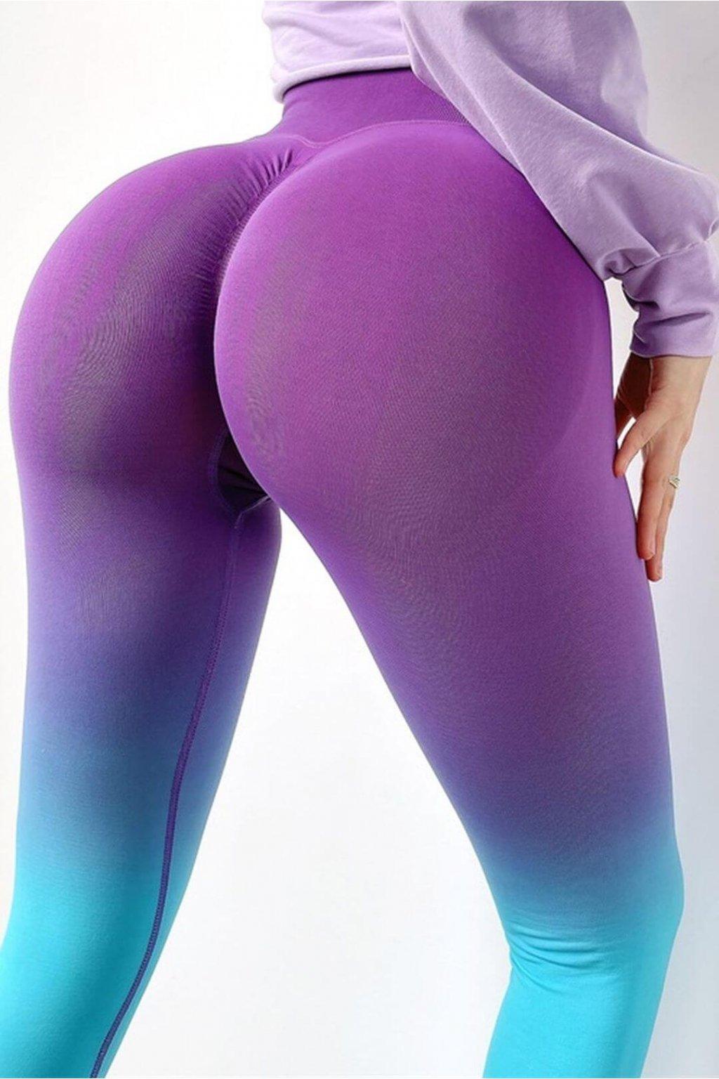 Dámské legíny Infinity Ombre Blue Purple