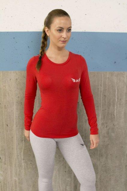 Dámské tričko Exalted s Dlouhým Rukávem - Červené