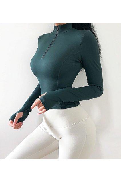 Dámský top Zip Green