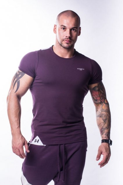 Nebbia Tričko 728 Muscle Back Burgundy