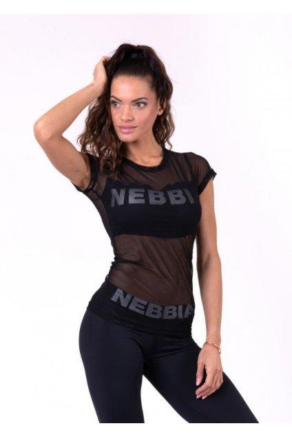 Nebbia Tričko 665 Flash-Mesh S Krátkým Rukávem Černé
