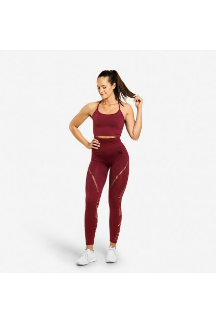 Better Bodies Legíny Waverly Sangria Red