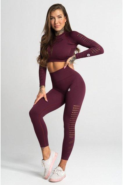 Gym Glamour Legíny Bezešvé Dark Berry
