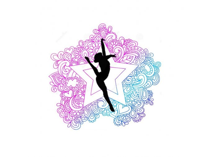 Nálepka gymnastka6