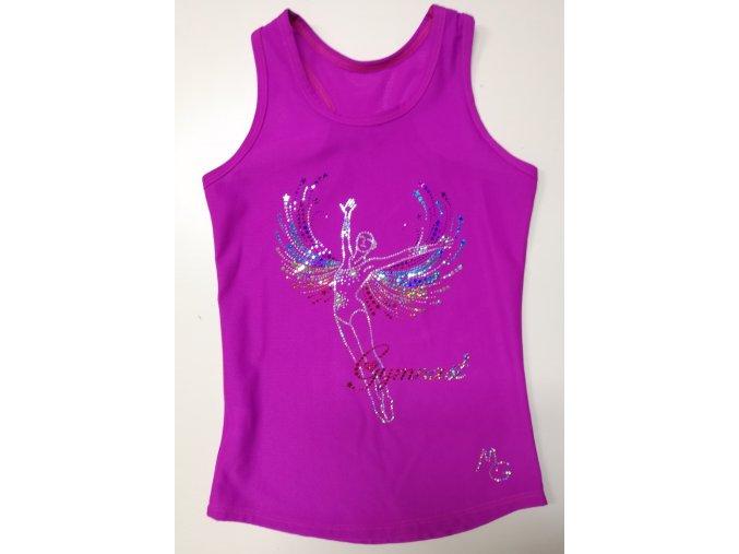 Tílko Glitry fuchsia Gymnast wings