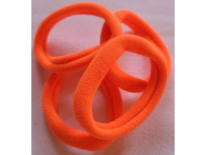 Gumičky super oranžová neon větší