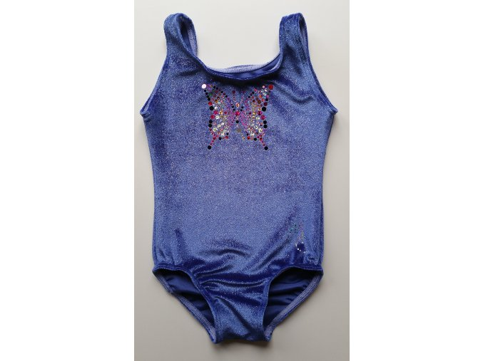 Dres Training glitters samet violett2
