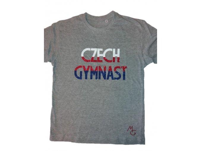 Tričko Czech Gymnast šedá