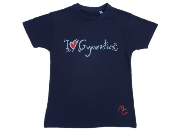 Tričko černá I love gymnastics