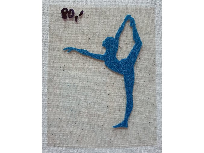 Nažehlovačka modrá yoga