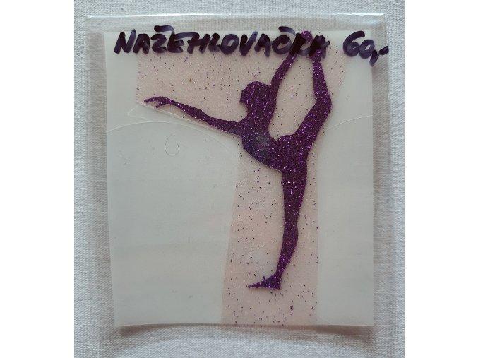 Nažehlovačka fialová yoga