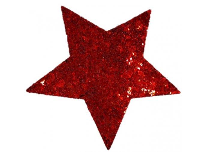 Hvězda do vlasů červená