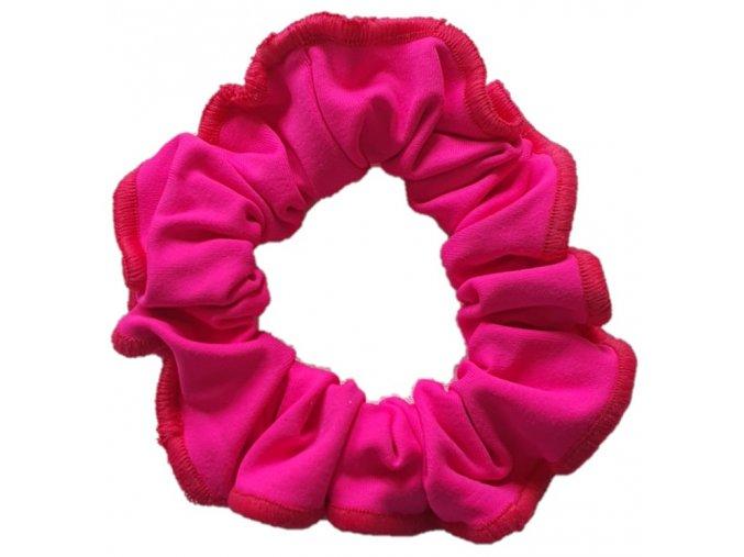 Gumička micro růžová neon