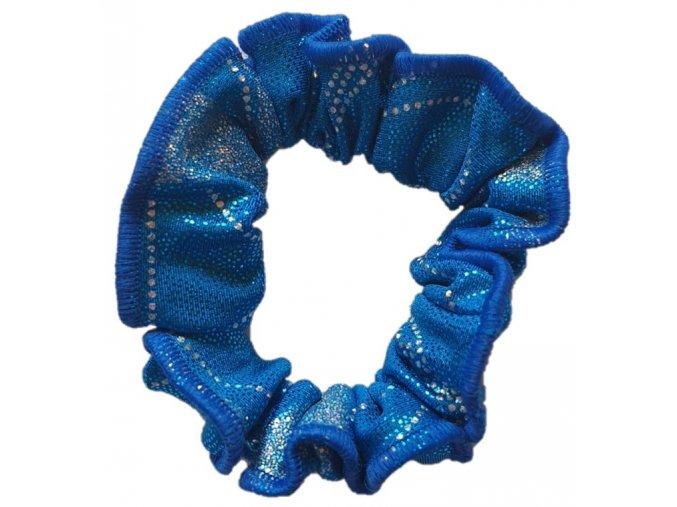 Gumička lesklá crazy blue