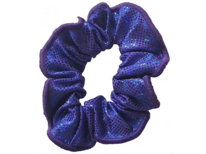 Gumička lesklá violett holo