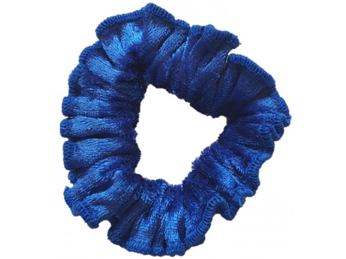 Gumička samet modrá tmavá