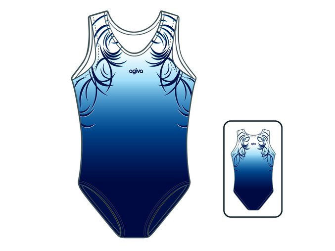 Gymnastický dres - 8038 - blue