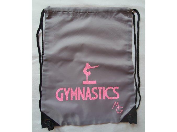 Gymsack Gymnastics šedá + růžová