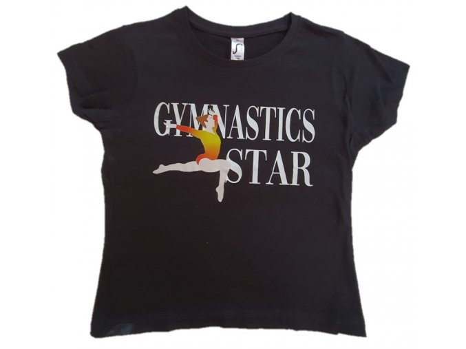 Tričko černé Gymnastics star