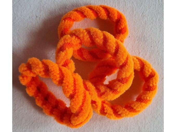 Gumičky Top oranžové větší