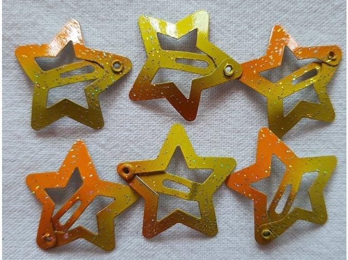 Sponky hvězdičky malé žluté ombré