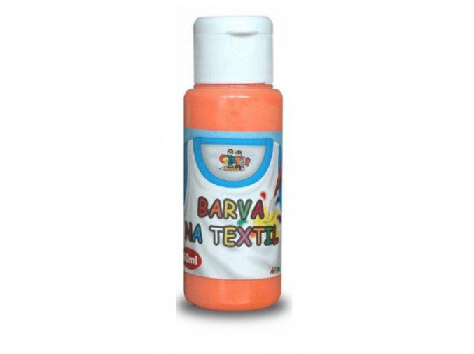 barvy na textil pale orange 60 ml