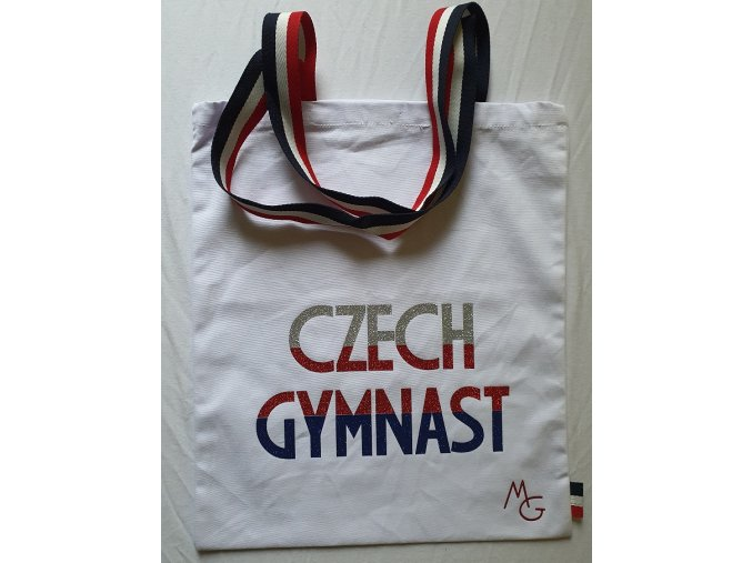Plátěná taška Czech Gymnast bílá