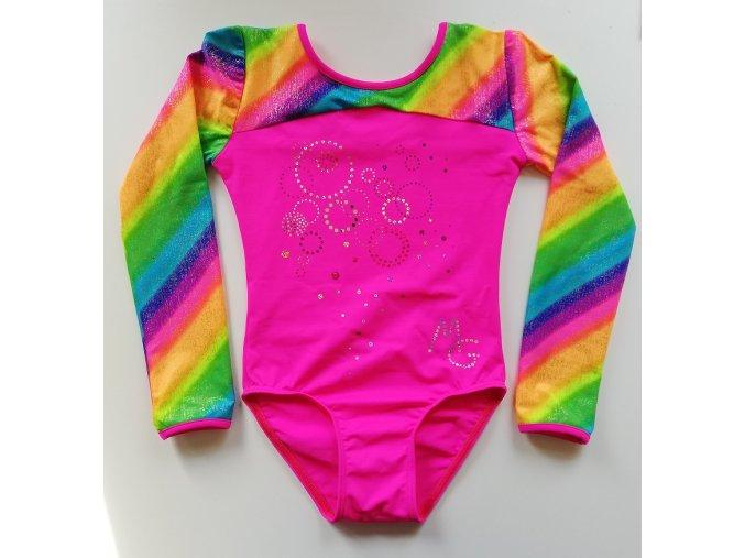 Dres Adele pink, rainbow