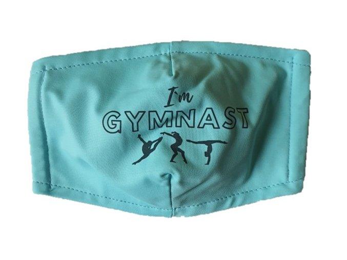 Rouška modrá I am Gymnast