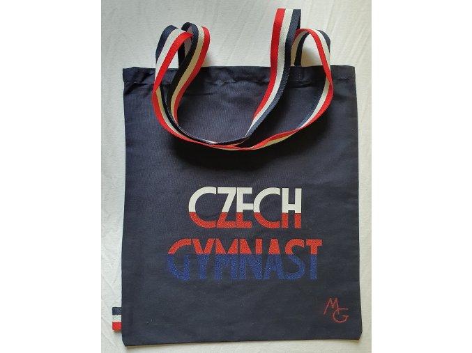 Plátěná taška Czech Gymnast navy