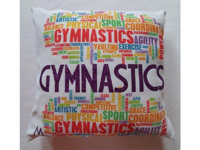 Polštářek fialová Gymnastics mix, fialová