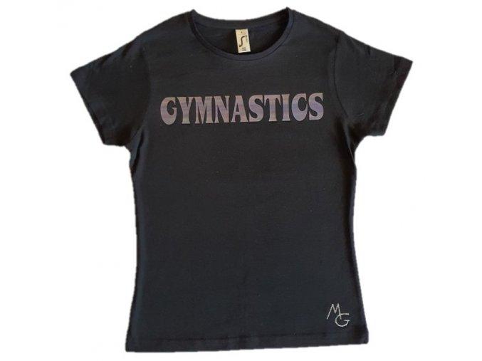 Tričko černé foil Gymnastics iron