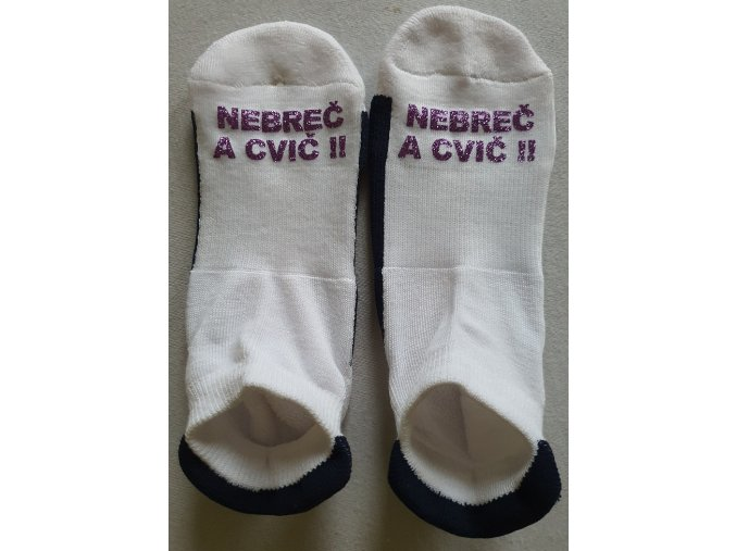 Ponožky Sneaker Nebreč a cvič tmavě fialová