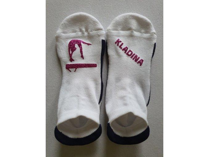 Ponožky Sneaker Kladina1+1 vínová