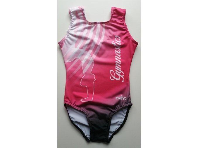 Gymnastický dres - 8900 - pink
