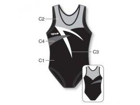 Gymnastický dres - 8003