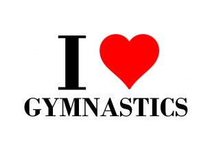 Nálepka I love gymnastics
