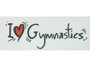 Nálepka - I love gymnastics
