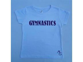 Gymnastické tričko - GYMNASTICS - bílé