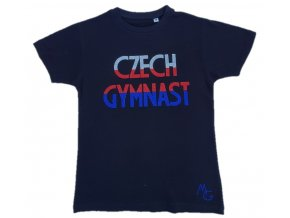 Tričko černá Czech Gymnast stř