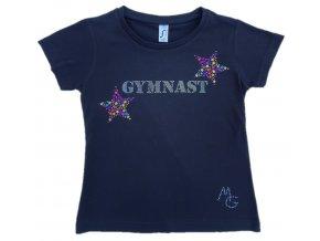 Tričko černá Gymnastics silver