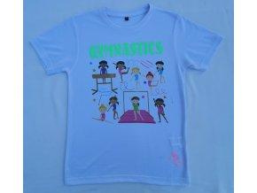 Gymnastické tričko - SUBLI - Panenky BR + green