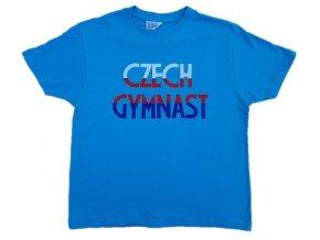 Tričko KLUCI Czech Gymnast modré