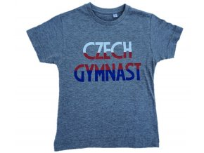 Tričko KLUCI Czech Gymnast šedé