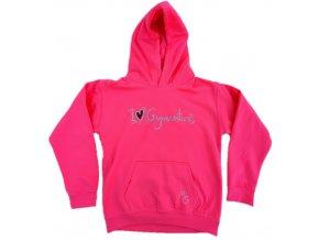Mikina I love gymnastics růžová