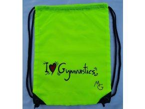 Gymsack I love gymnastics, žlutá