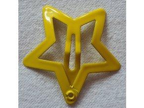 Sponky hvězičky matné žlutá