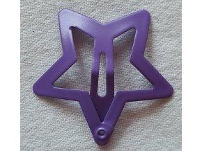 Sponky hvězdičky matné tmavě fialová