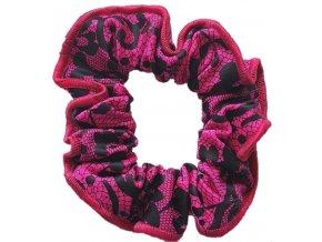 Gumička plavkovina Pink lace