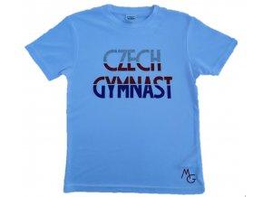 Tričko Czech gymnast bílé funkční